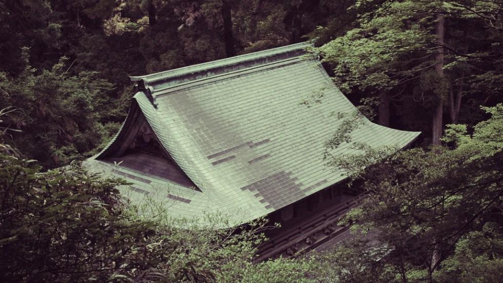 Templo situado en las montañas cercanas a Fukuoka, sur de Japón - Nacho Goberna © 2004
