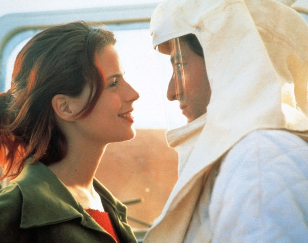 """Rodaje de """"Tierra"""" (1996). Carmelo Gomez y Silke. Fotografía © Teresa Isasi"""