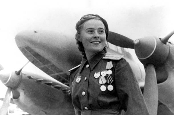 La piloto, miembro de las fuerzas aereas del ejército ruso, Lydia Litvyak.