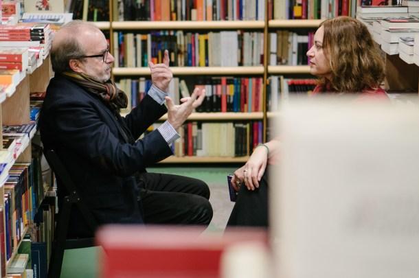 Manuel Borrás y Emma Rodríguez (editorial Pre-textos). Fotografía por Nacho Goberna © 2016