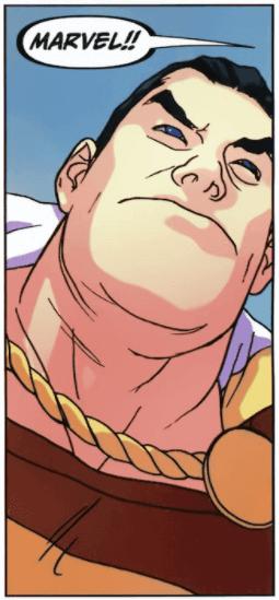 Visage de Captain Marvel