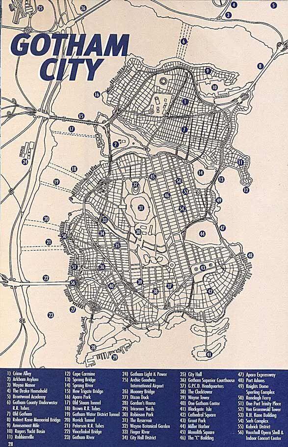 Carte de Gotham