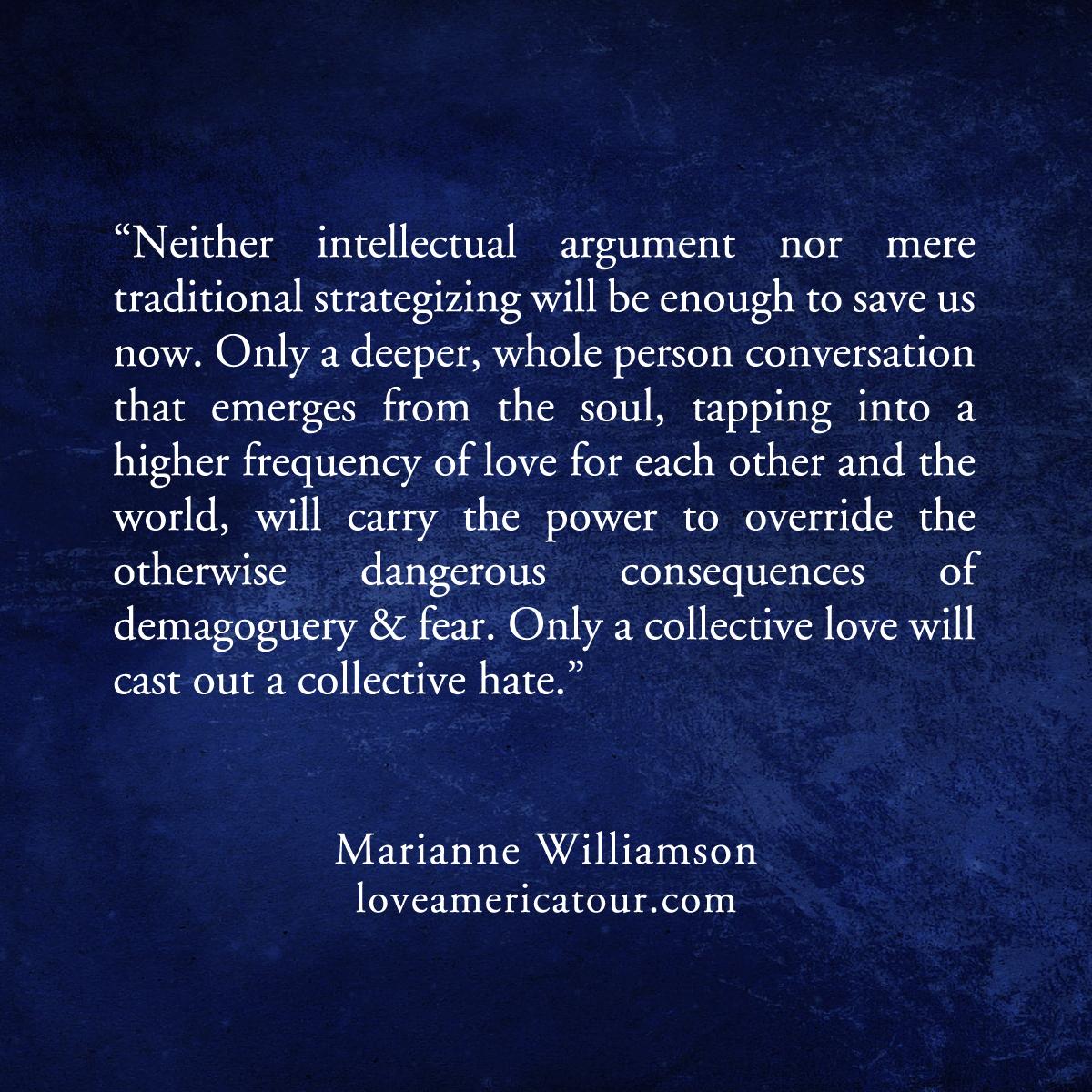 Welcome - Marianne Williamson