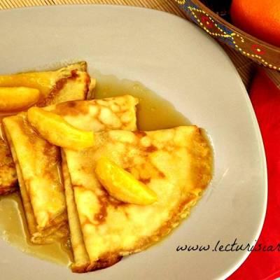 Clatite frantuzesti cu sos de portocale (crepes suzette)