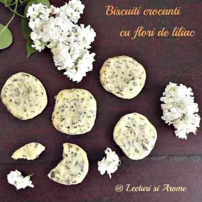 Biscuiti crocanti cu flori de liliac