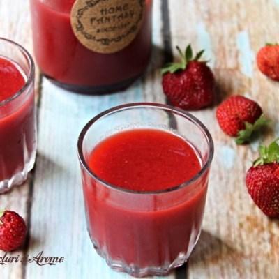 Nectar de căpșuni făcut în casă