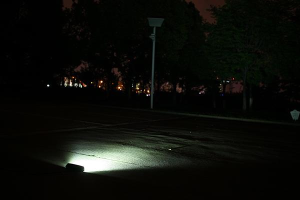 18w作業灯点灯写真