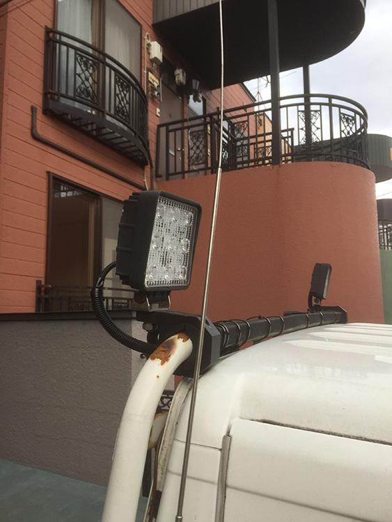 軽トラ27w作業灯設置事例