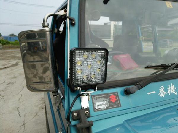 ジムニー作業灯設置 拡大写真