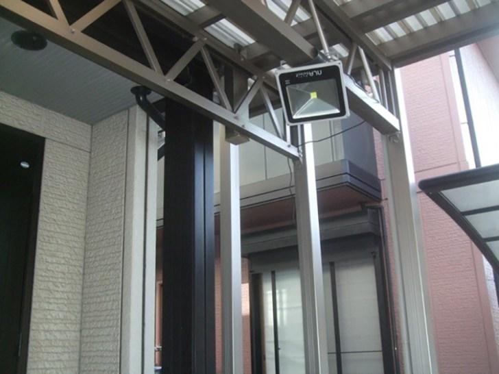 LED投光器・屋外カーポートご利用写真