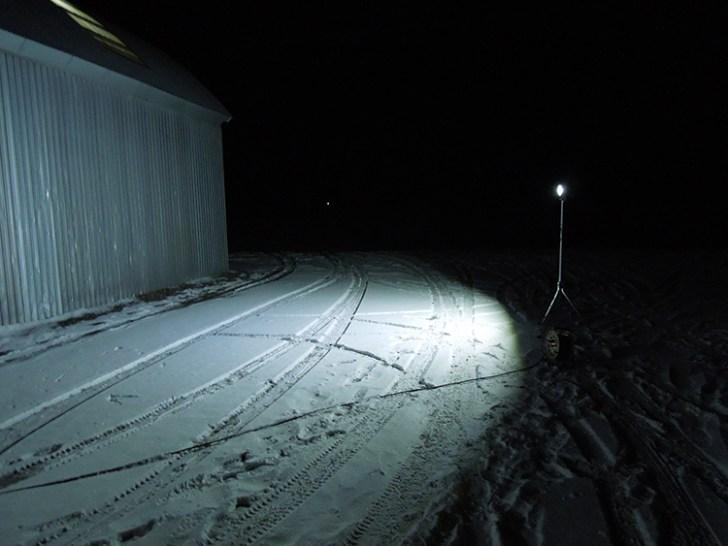 20w投光器・屋外使用点灯事例