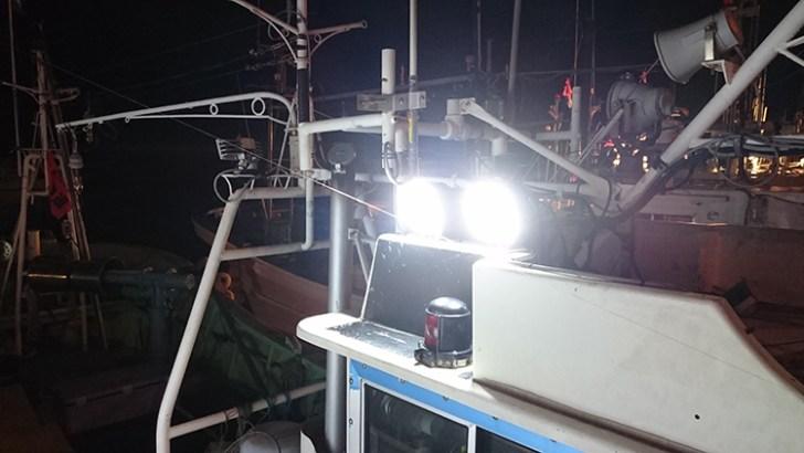 漁船48w作業灯設置写真