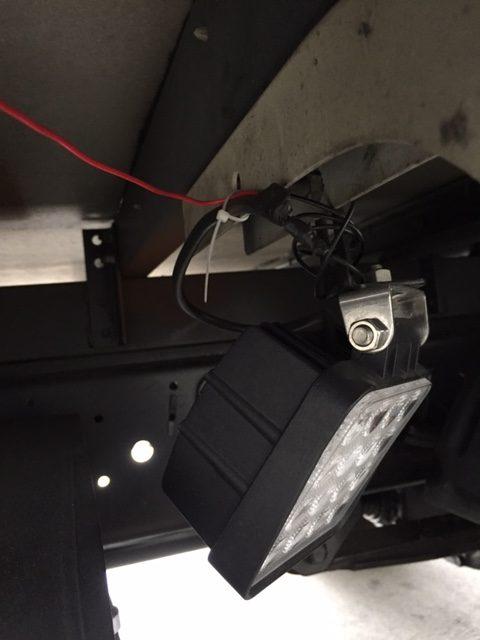 48w作業灯の設置状況