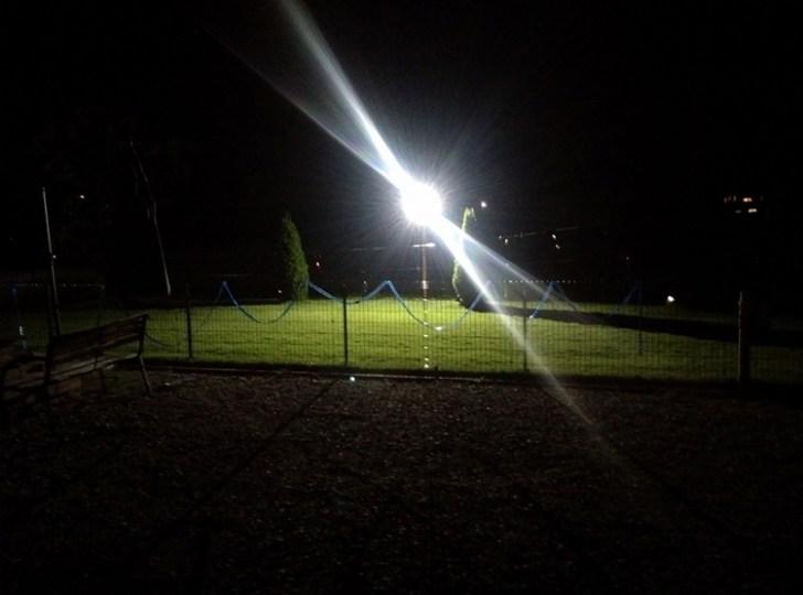 投光器・照射写真