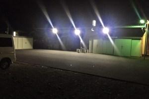 投光器 led業務用使用事例