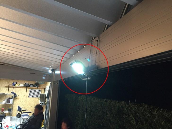 20w投光器・ガレージ使用写真