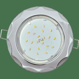Светильник Ecola GX53 H4 встраив. без рефл. «Звезда» хром-серебро 38×116