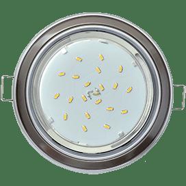 Светильник Ecola GX53 H4 встраив. без рефл. 2 цв. серебро-черный хром-серебро 38х106