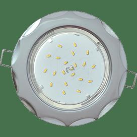 Светильник Ecola GX53 H4 встраив. без рефл. «Звезда» серебро-хром 38×116
