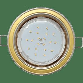 Светильник Ecola GX53 H4 встраив. без рефл. 2 цв. жемчуг-золото-жемчуг 38х106