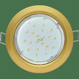 Светильник Ecola GX53 H4 встраиваемый без рефлектора Сатин золото 38×106