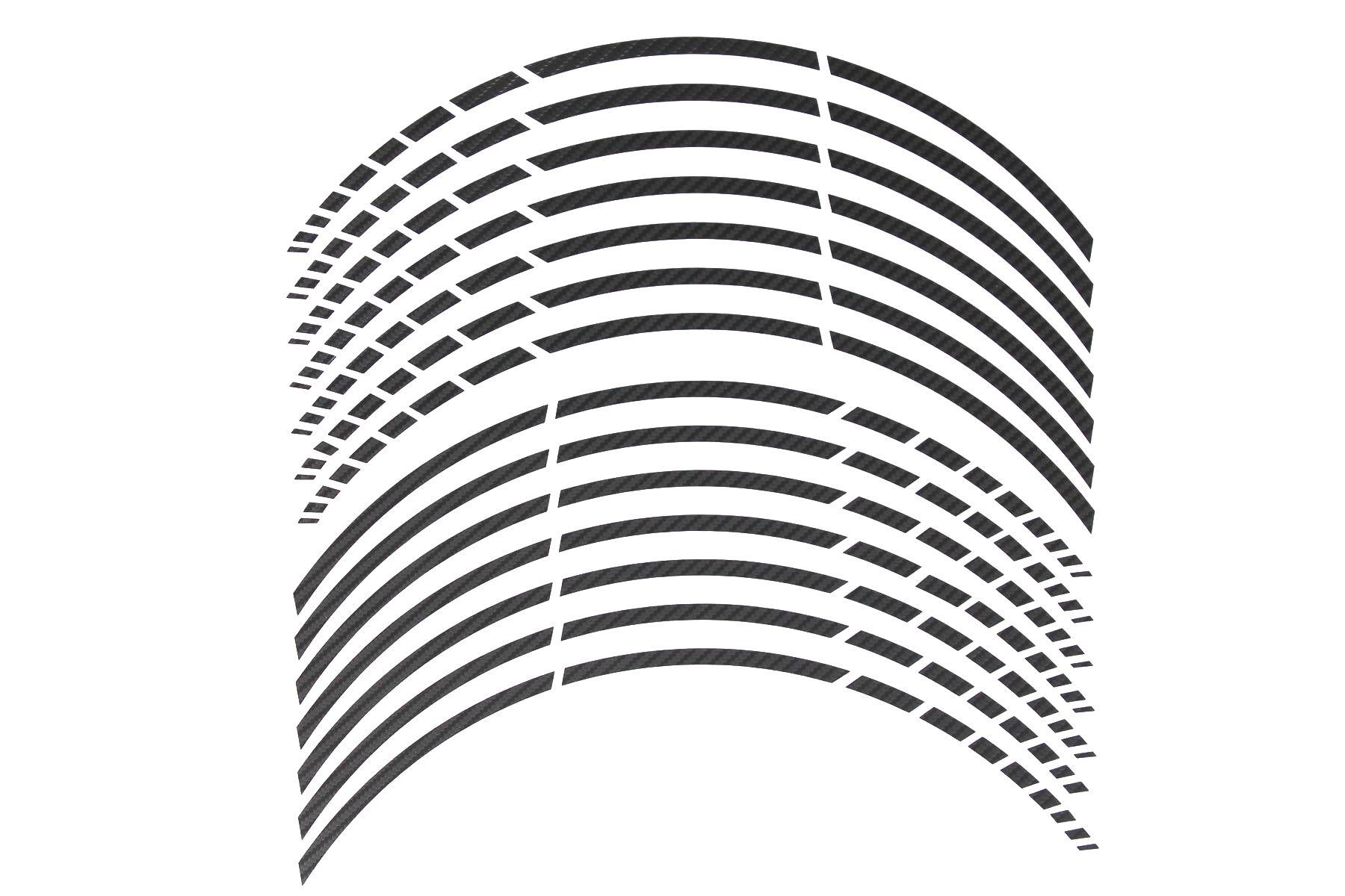 Gp 16 Felgenaufkleber In Der Farbe Carbon Schwarz