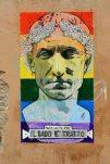 Graffiti Julius Caesar Gay Pride Rome