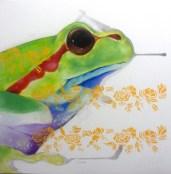 Frog-2016-Olio-on-Canvas-cm-100x100