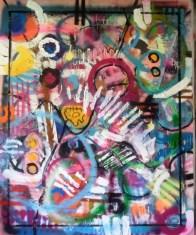 mixed media on canvas 100 x 90 cm