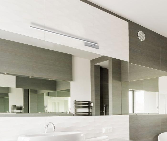 Prawidłowe oświetlenie lustra w łazience odgrywa znacząca rolę (Lampa SHINE dostępna w sklepie internetowym na https://goo.gl/DJf1G2)
