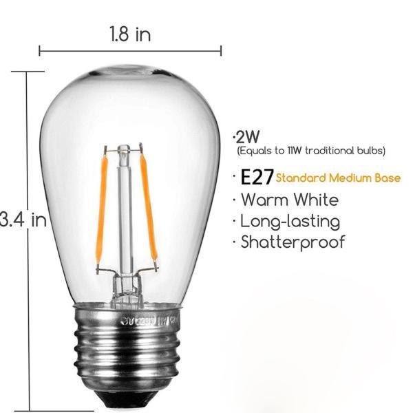 LED Edison Filament Bulb E27 2W 1 | LED Corner
