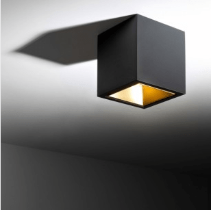 DeltaLight BOXY L+ LED 3033 BLACK-GOLD MAT - Ceiling Surface mounted - 251678122B-MMAT