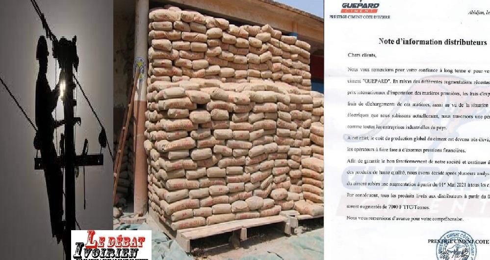 Délestage électrique en Côte d'Ivoire-Flambée des prix-les ivoiriens au bord de l'étouffement: les cimentiers se frottent les mains, le ministère du commerce veut-il réellement comprendre les augmentations des prix ? ledebativoirien.net