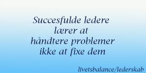 lederskab og probelmløsning