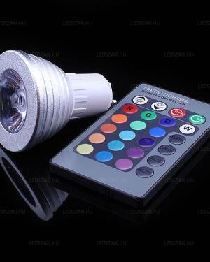 Led RGB Spot 3W távirányítós
