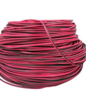 2 eres vezeték 12V, led szalaghoz. Fekete-piros, 20,20 mm2 keresztmetszetű.