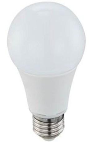 Led körte égő 12W, 1305 lumen, 100W izzó helyett. E27, 60 mm, 4200 K, közép fehér.
