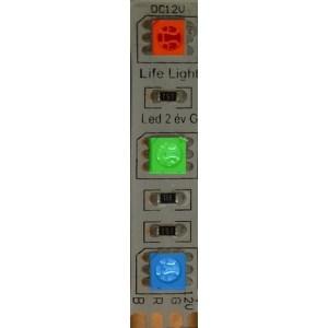 Led szalag 60 ledm, 5050 chip, 180-650 Lumen,RGB, IP65 vízálló