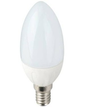 Led gyertya égő 7W, 710 Lumen, 70W izzó helyett, E14, 6000K, hideg fehér, nem vibrál a fénye!