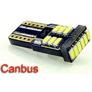 Autós led T10 Canbus helyzetjelző, index világítás, Samsung chip, 18 led, 70 Lumen, 1,5W, sárga