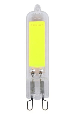 Led G9 foglalatú, COB chip, 3W, 320 Lumen, 6000K, hideg fehér, 230V