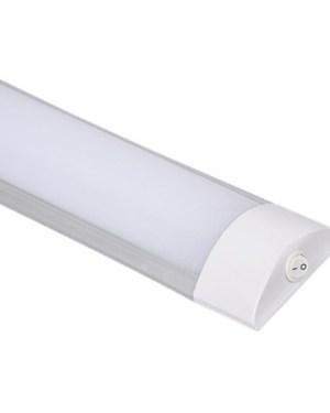 Led bútorvilágító lámpa kapcsolóval, 30 cm, 10W, 760 lumen, 4000 kelvin, közép fehér, IP44. Life Light Led 2 év garancia!