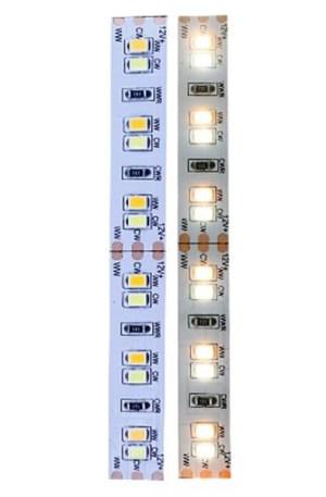 Led szalag IP65, vízálló, 120 ledm, 2835 chip, kétszínű, 2700 + 6000K, meleg-hideg fehér, 9,4W, 1000 lumen. Life Light Led 2 év garancia!