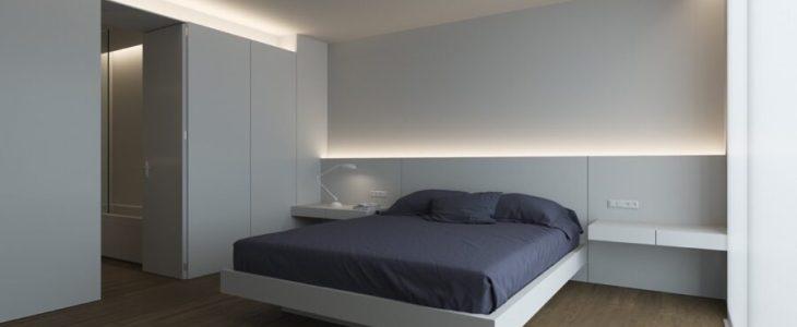 minimalista Led hangulatvilágítás a hálószobába