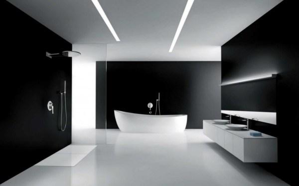 modern-fürdőszoba-hangulatvilágítással-600x373 Led hangulatvilágítás a fürdőszobába ötletek Tippek