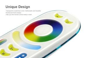 Milight távirányító RGB+CCT+Dimmer 4 zónás (FUT092) design
