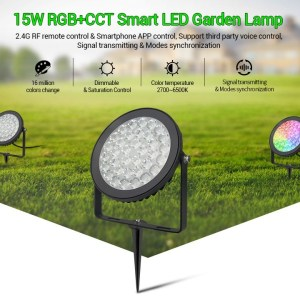 Vízálló kerti lámpa 15W (FUTC03) RGB-CCT