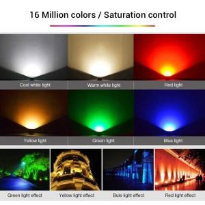 Vízálló reflektor 10W 900 Lumen színek