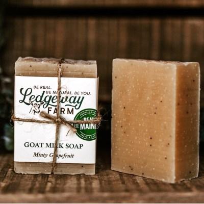 Minty Grapefruit Goat Milk Soap