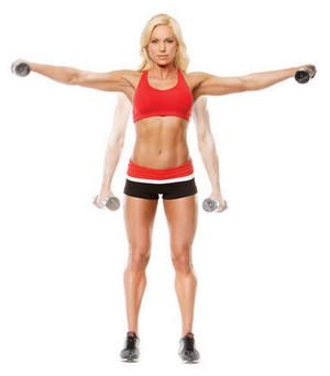 упражнения с гантелями чтобы убрать жир с рук